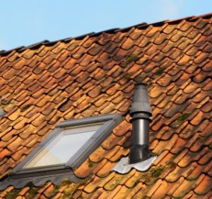 Velux window angled garage roof